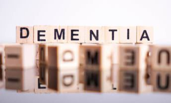Dementia spelt out with wooden blocks